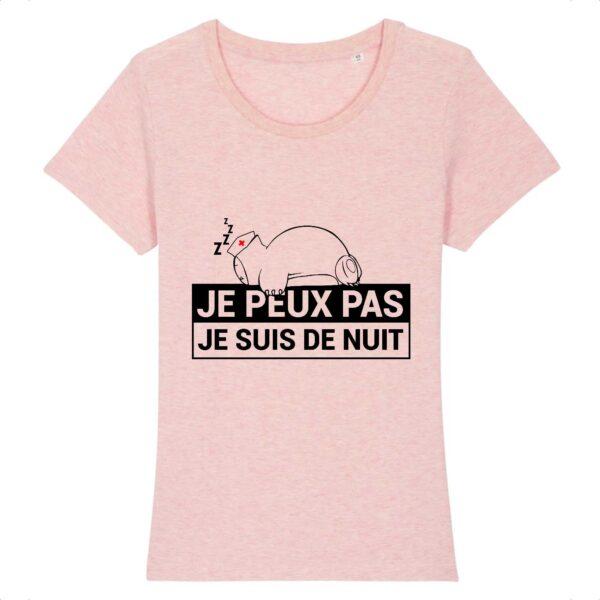 T-shirt infirmière - Je suis de nuit