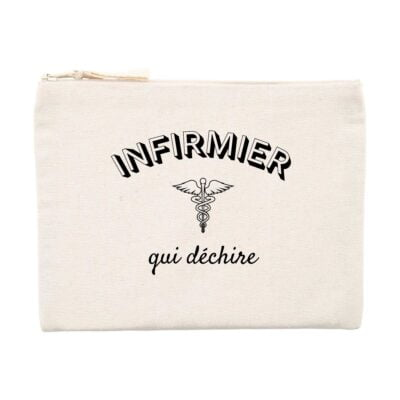 Pochette infirmier - Infirmier qui déchire