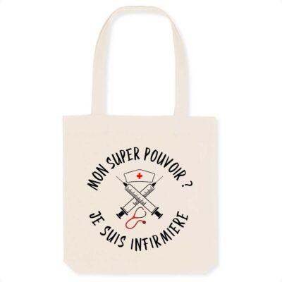 Tote bag infirmière - Super pouvoir
