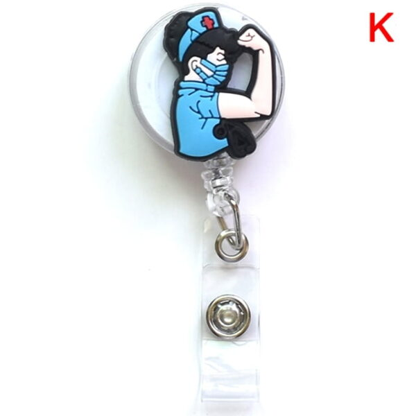 Porte Badge r tractable d infirmi re porte carte d identit de dessin anim porte cl 10.jpg 640x640 10