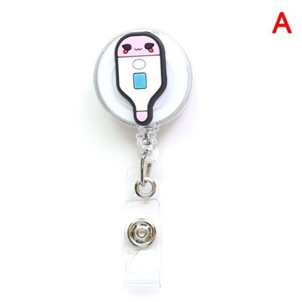 Porte Badge r tractable d infirmi re porte carte d identit de dessin anim porte