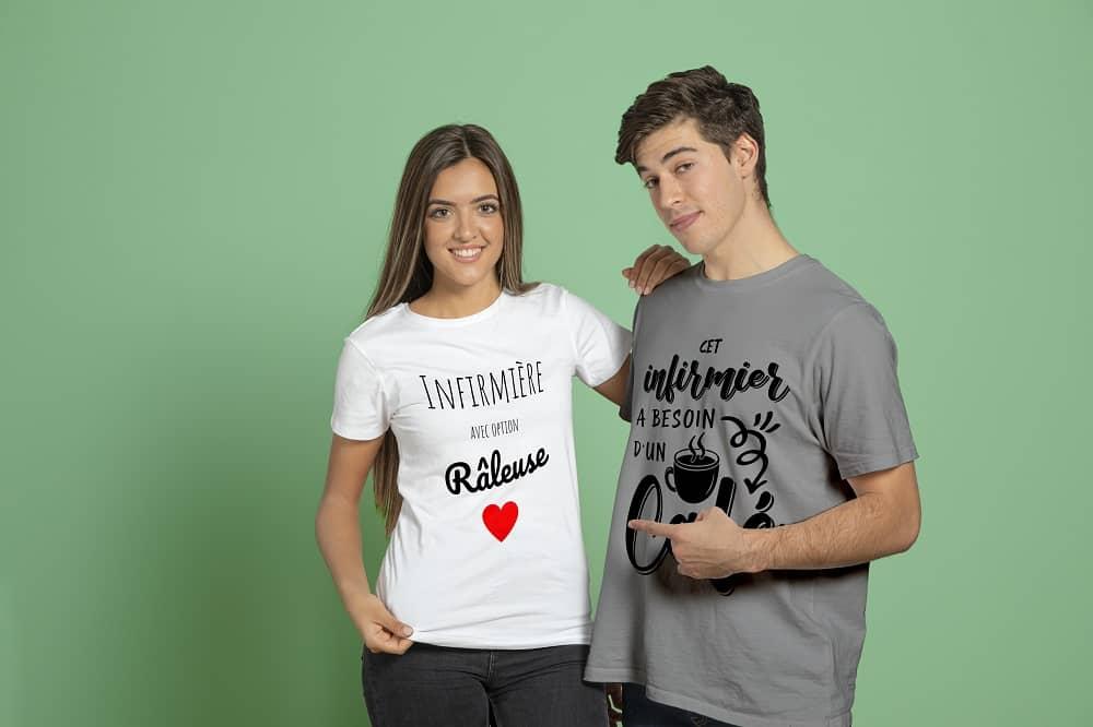 t-shirt pour infirmières