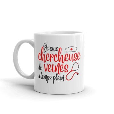 mug infirmière - chercheuse de veine à temps plein
