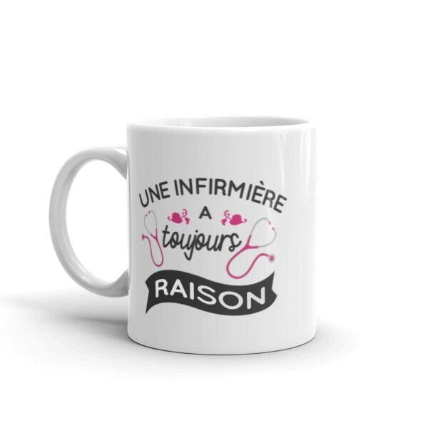 mug infirmière - toujours raison